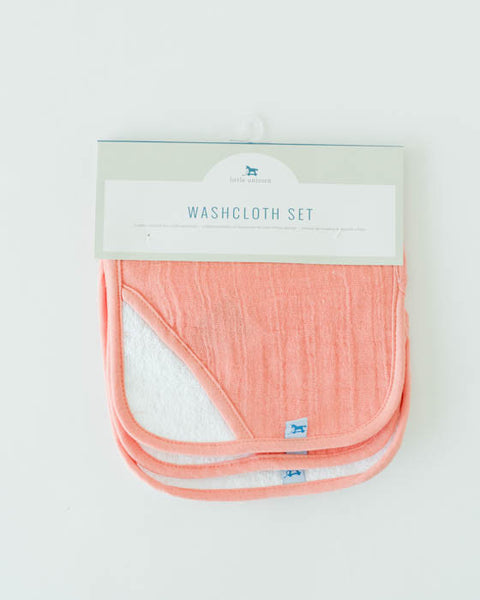 Washcloth Set - Coral