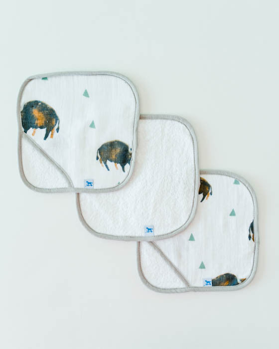 Washcloth Set - Bison