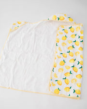 Big Kid Hooded Towel - Lemon