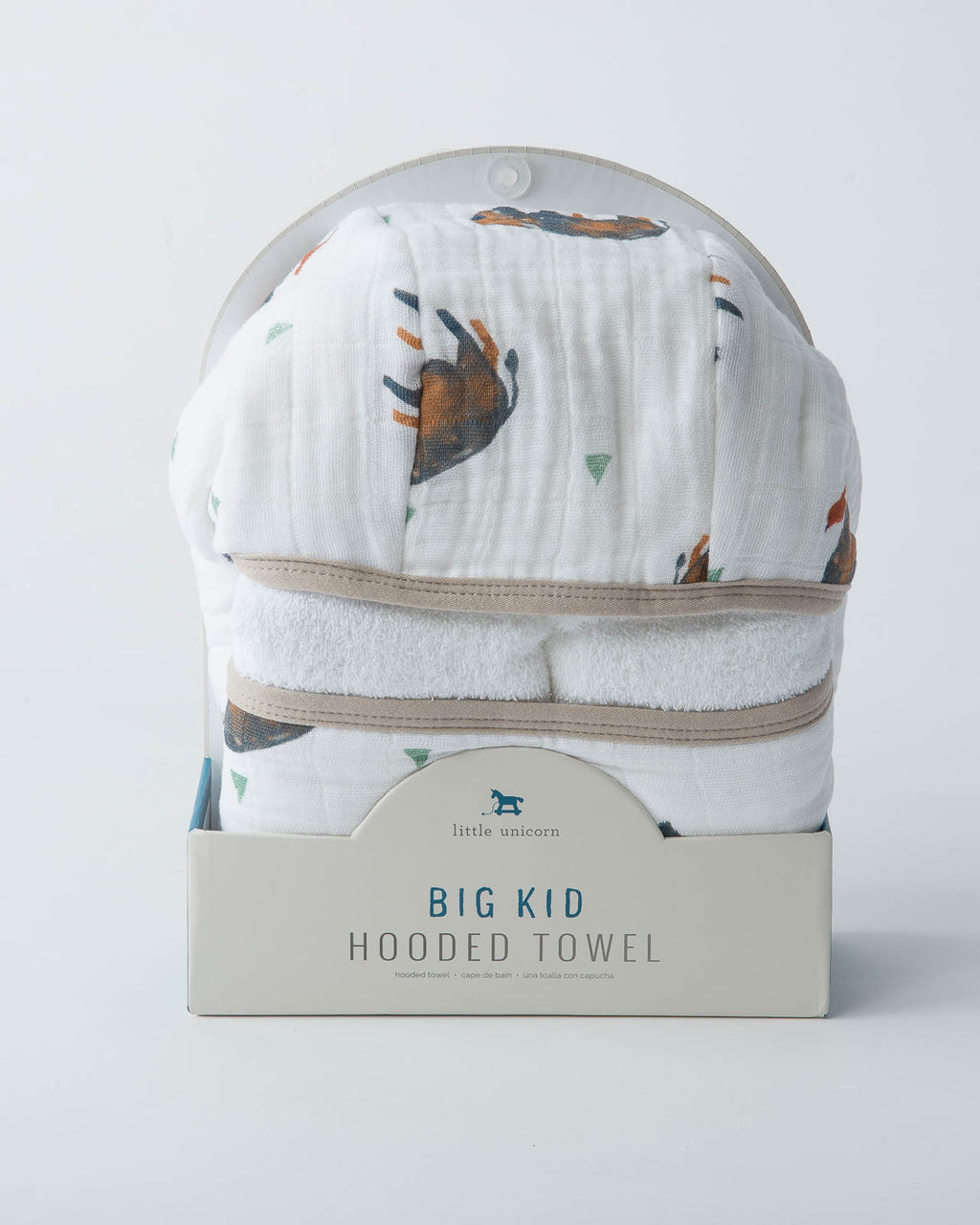 Big Kid Hooded Towel - Bison