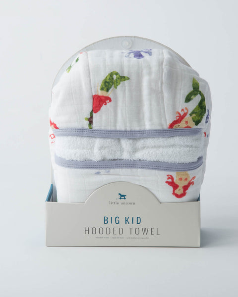 Big Kid Hooded Towel - Mermaid