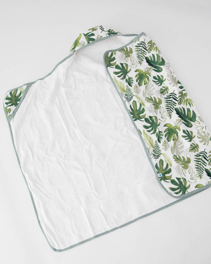 Big Kid Hooded Towel - Tropical Leaf