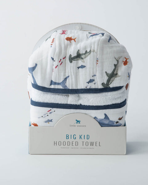 Big Kid Hooded Towel - Shark