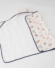 Big Kid Hooded Towel - Treasure Map