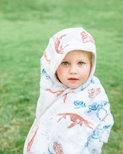 LU + Jurassic World Big Kid Hooded Towel - Paleontologic