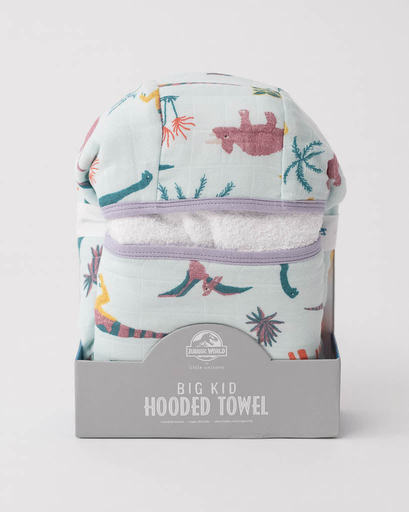 LU + Jurassic World Big Kid Hooded Towel - Embroidosaurus