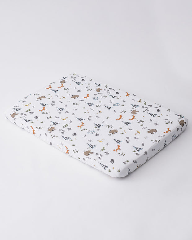 Cotton Muslin Mini Crib Sheet - Forest Friends