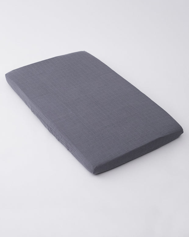 Cotton Muslin Mini Crib Sheet - Charcoal