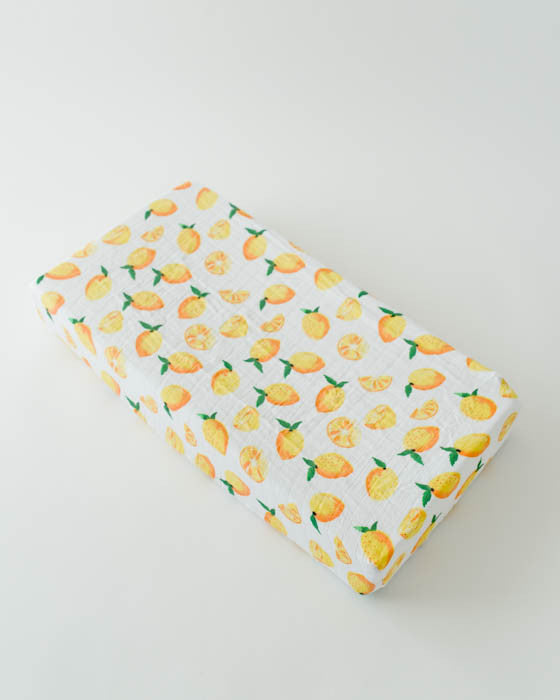 Cotton Changing Pad Cover Lemon Best Changing Pad Cover Pattern