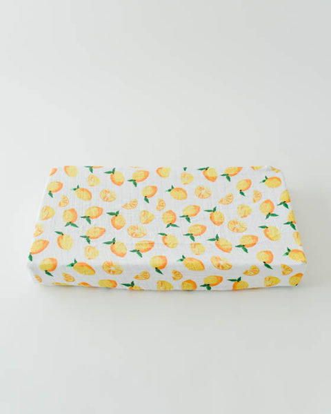 Cotton Changing Pad Cover - Lemon