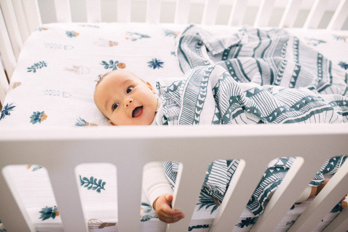 Cotton Muslin Swaddle Blanket Set - Bison