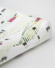 Cotton Changing Pad Cover - Rolling Hills