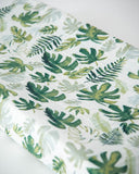 Cotton Changing Pad Cover - Tropical Leaf