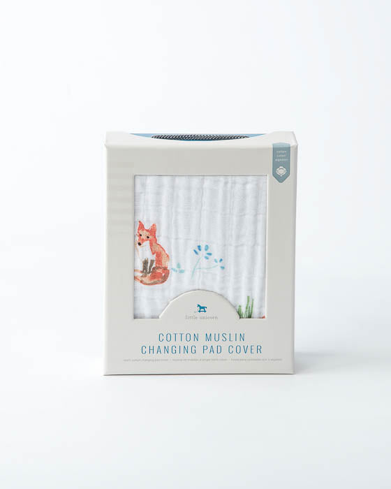Cotton Changing Pad Cover - Fox
