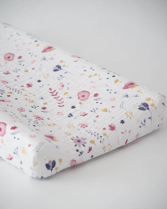 Cotton Changing Pad Cover - Fairy Garden