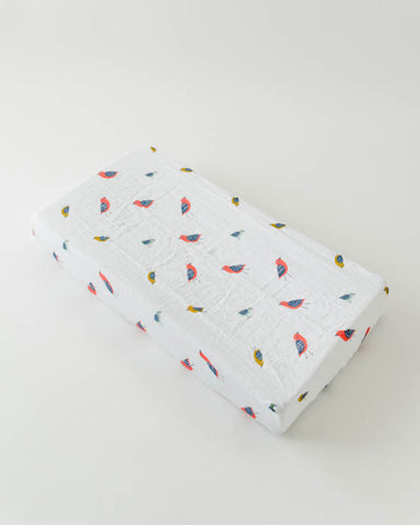 Brushed Changing Pad Cover - Little Wings
