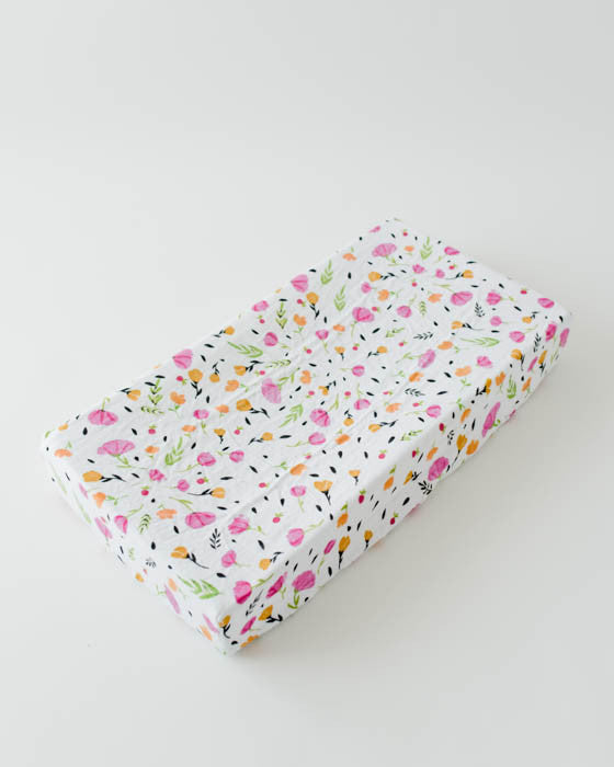 Brushed Changing Pad Cover - Berry & Bloom