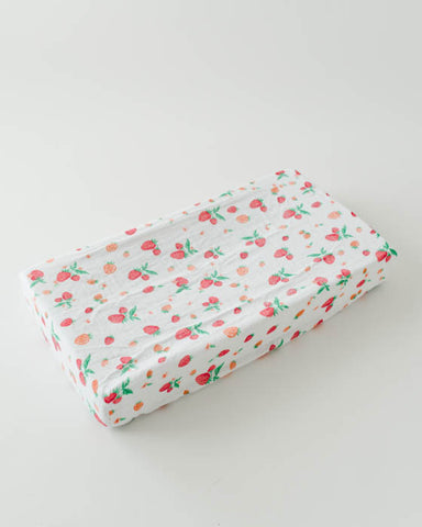 Brushed Changing Pad Cover - Strawberry