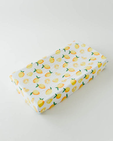 Brushed Changing Pad Cover - Lemon