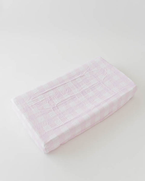 Brushed Changing Pad Cover - Lilac Plaid
