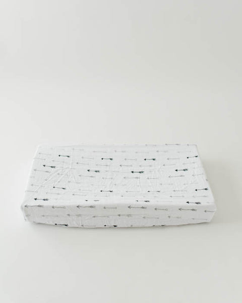 Brushed Changing Pad Cover - Arrow