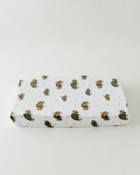 Brushed Changing Pad Cover - Bison