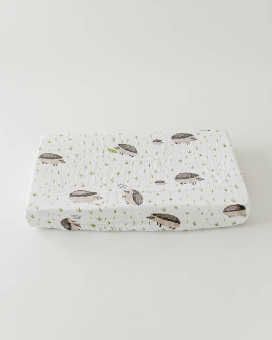 Brushed Changing Pad Cover - Hedgehog