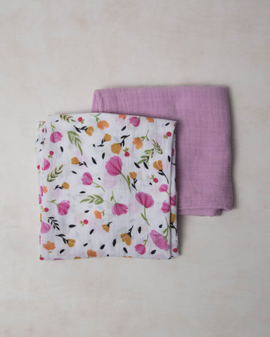 Organic Cotton Swaddle Set - Berry & Bloom