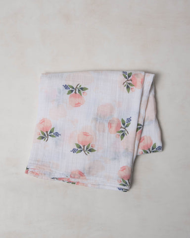 Organic Cotton Swaddle - Watercolor Rose
