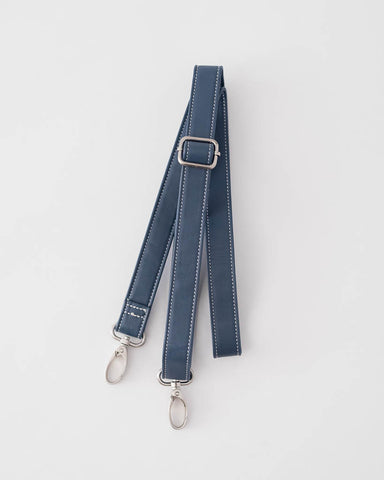 Leather Shoulder Strap - Navy