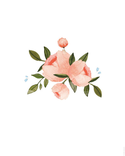 Printable Download - Watercolor Roses