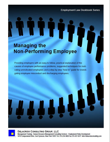 Managing the Non-Performing Employee