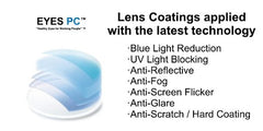 Blue Light Lens Coating and Anti-Glare Lens Coating