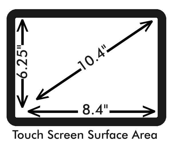 "10.4 "" touch screen measurements"