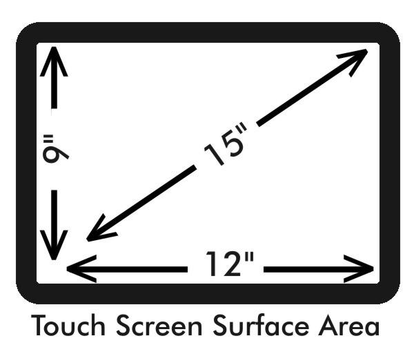 "15"" touch screen protector measurements - with bezel"