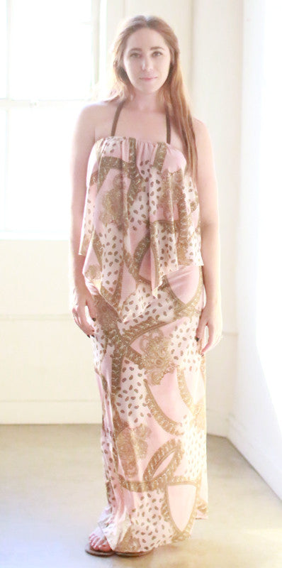 Zenaida Dress (Baby Pink Paisley)