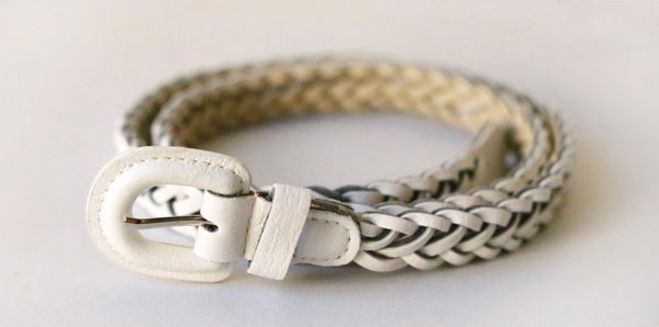 Braided Belt (White)