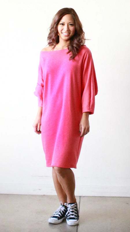 Astrid Tee Dress (Cardinal Fleece)