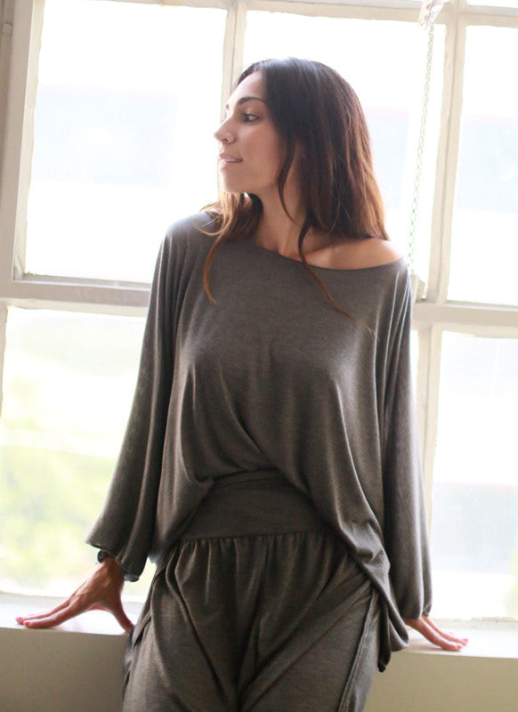 St. Tropez Top (Charcoal)