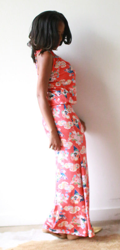 Tammy Short Torso Dress (Chinoiserie)