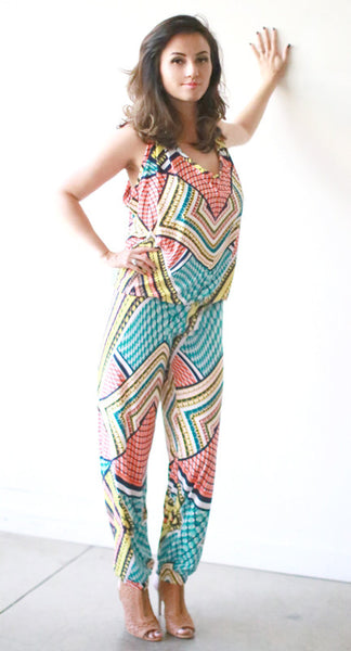 Sarah Jumpsuit w/ Banded Bottoms (Fiesta)