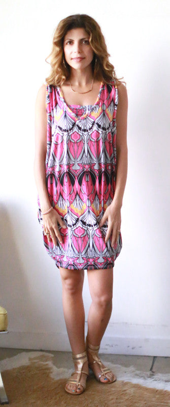 Jennyn Dress (Flamingo Deco)