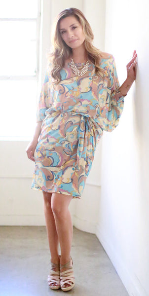 Joy Knee Length Dress (Frucci Swirl)