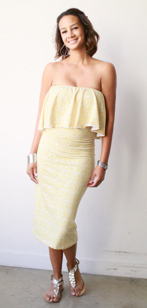 Pencil Skirt (Gold Leaf)