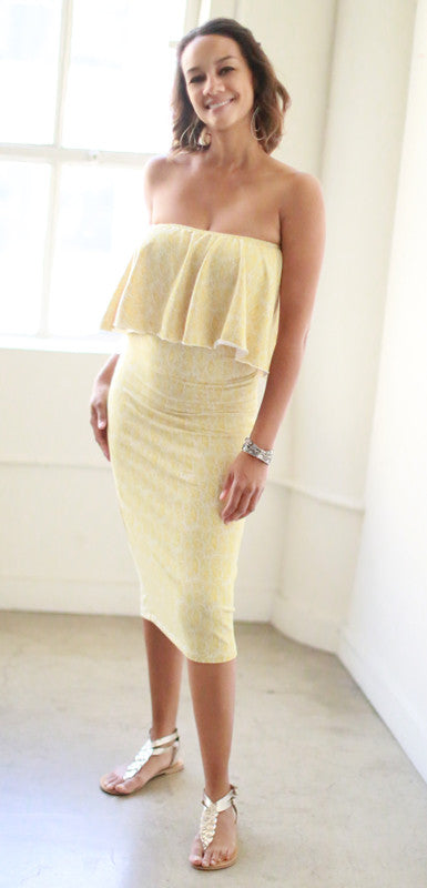 Sophie Midi Top (Gold Leaf)