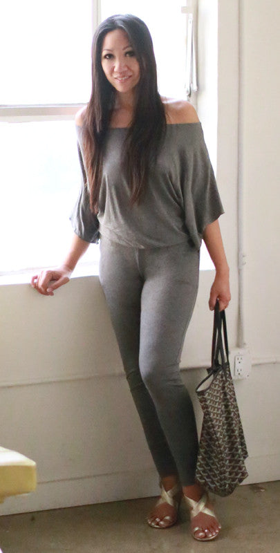 Esther Skinny Jumpsuit (Gray Stone)