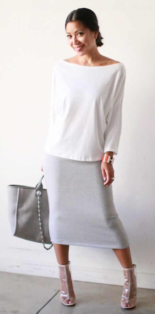 Pencil Skirt (Gray Sweats)