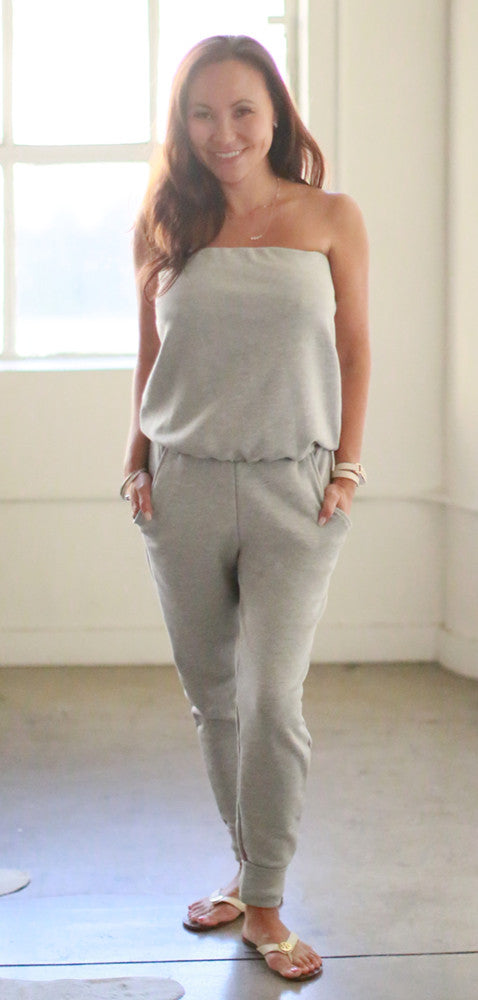 Skinny Will Jumpsuit (Gray Sweats)
