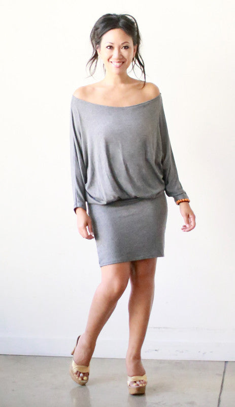 Astrid Knee Length Dress (Grigio Knit)