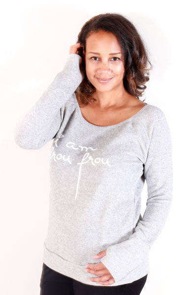 """i am frou frou"" Sweatshirt (Gray)"